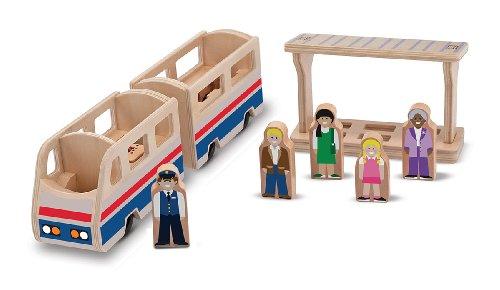 Melissa & Doug Whittle World Train Platform Play Set front-490147