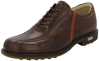 ECCO Men's Tour Hybrid Golf Shoe,Bison/Orange,42 EU/8-8.5 M US