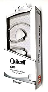 QUIKCELL S160 STEREO BLUETOOTH HEADSET, white