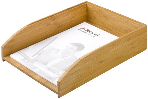 Rexel Bamboo Letter Tray Natural (100% Recyclable Sustainable Bamboo)