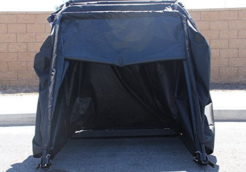 G3elite retractable motorcycle cover waterproof outdoor garage storage shelter tent drive in - Motorcycle foldable garage tent cover ...