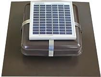 Big Sale Solar Roof Vent - Solar Attic Fan - Solar RVOblaster with Brown Vent