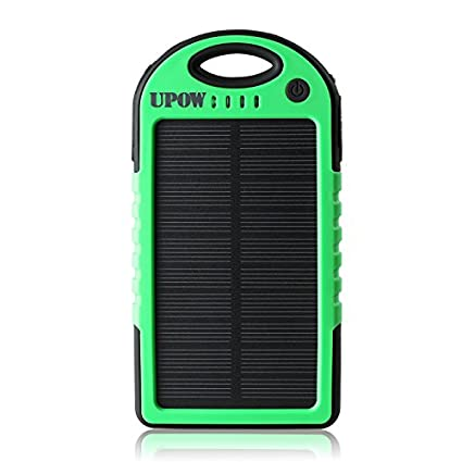 Upow 5000mAh Solar Power Bank