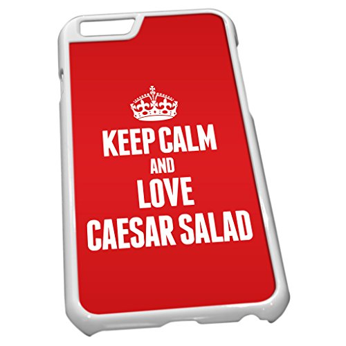 Blanc Coque pour iPhone 60889Rouge Keep Calm and Love Salade César