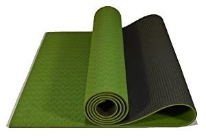 Buy Atlas Yoga Mat - Premium | Feel More Grounded, TPE Material, 2 Layers, 6 mm Thick, Dense and Comfortable, Non Slip, Eco... by Atlas Body Fitness