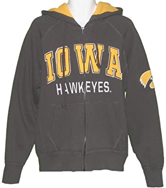 Mens Iowa Hawkeyes Competition Full Zip Hooded Sweatshirt by Colosseum