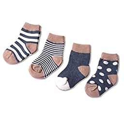 Unisex Baby Socks Newborn 4 Pack Little Luxuries Design Socks by Ola Kids