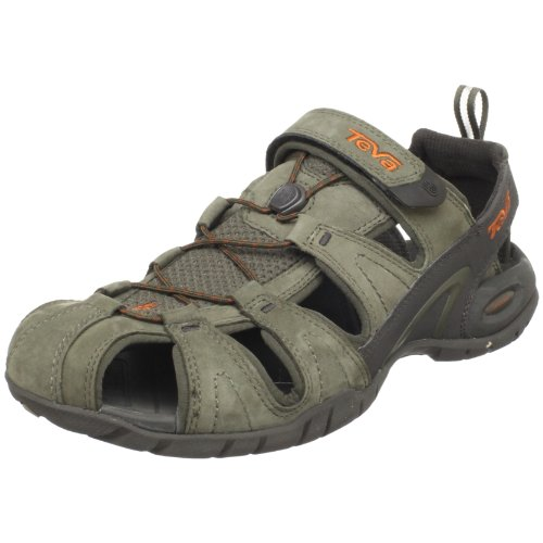 Teva Dozer Leather Men's Sandal  Grey/tarmac UK 8