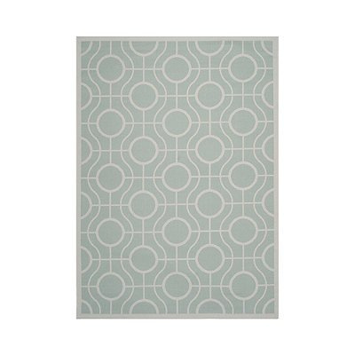 Abbey Outdoor Rug - Aqua, 5'3