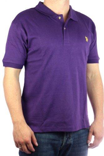 US Polo Assn. Men´s Small Pony polo shirt purple-yellow