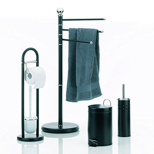 Kela 20972 set da bagno graphito con porta asciugamani a - Altezza porta asciugamani ...