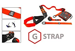 RED G-STRAPS Suspension Body Fitness Trainer (650 LB SUPPORT, 5 COLORS) HIGH QUALITY Guaranteed, Resistance Home Gym Fitness Training, WARRANTY