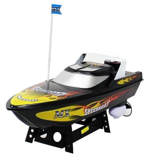 MX Championship Black Flame Electric RTR RC Speed Boat Quality Remote Control Boat RECHARGEABLE with Mini Tool Box (fs)