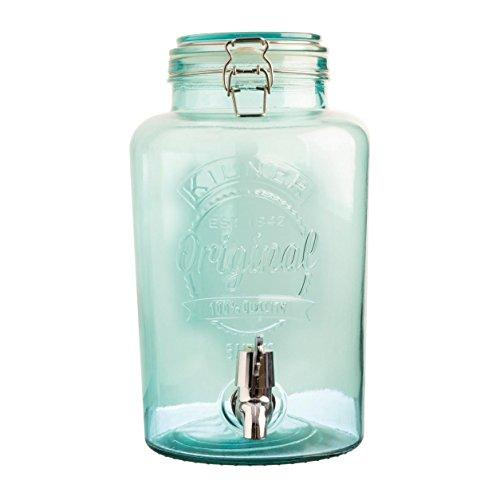 Distributeur-de-boisson-Original-5-l-Blue-aspect-verre-Vintage-distributeur-deau-distributeur-de-jus-Robinet-Couvercle-bocal-avec-clip-en-mtal