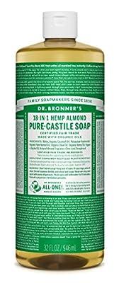 Dr. Bronner's Fair Trade & Organic Castile Liquid Soap - (Almond, 32 oz)