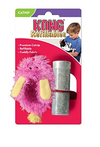 Picture KONG Fuzzy Slipper Refillable Catnip Toy, Assorted