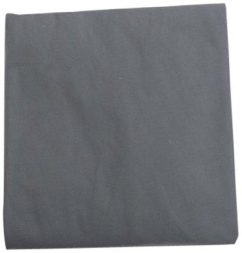 Baby Doll Solid Round Crib Sheet, Grey - 1