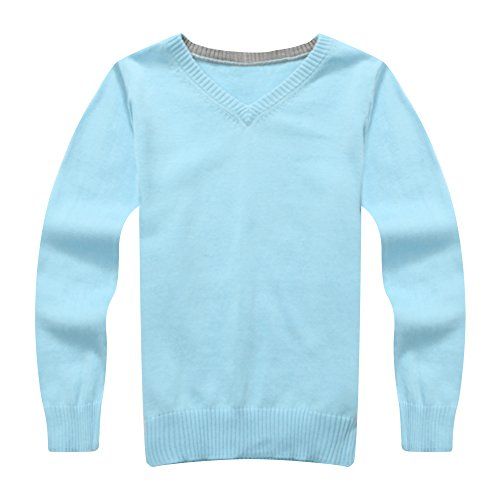 Richie House Boy'S Solid Pullover With V-Neck Rh0866-D-6/7-Fba