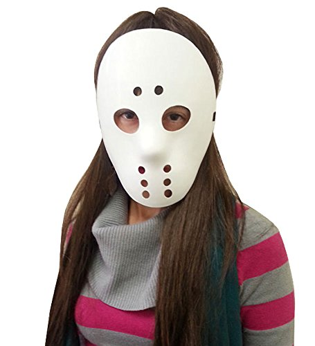 Costumes For All Occasions 10557 Hockey Mask White - 1