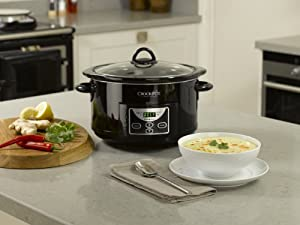 Crock-Pot Digital Countdown Slow Cooker, 4.7 Litre - Gloss Black