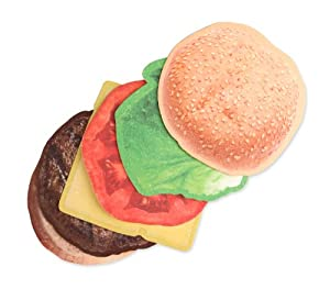 Kikkerland Burger Coasters, Set of 6