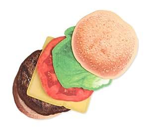 Kikkerland Burger Coasters, Set of 6