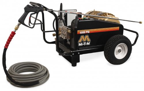 Mi-T-M Cw-4004-1Me3 Cw Premium Series Cold Water Electric Belt Drive, 15.0 Hp Motor, 230V, 40A, 4000 Psi Pressure Washer