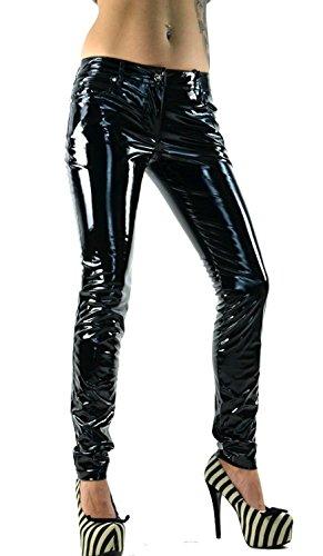 Lip Service Gothic Vinyl PVC Latex Look Shiny Black Skinny Jeans Pants (XL) (Lip Service Vinyl Pants compare prices)