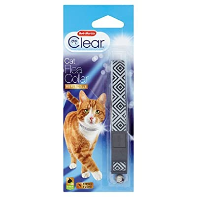 Clear Bob Martin Bob Clear 2 Cat Flea Collar, Black_P