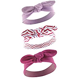 Yoga Sprout Baby 3 Pack Bow Baby Headbands, Lotus, 0-12 Months