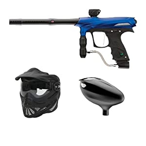 Proto Rail Blue Paintball Gun+ Primo Loader+ FS Black Goggle Mask