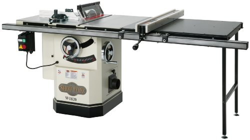 Learn More About Shop Fox W1820 3 HP 10-Inch Table Saw with Extension Table and Riving Knife