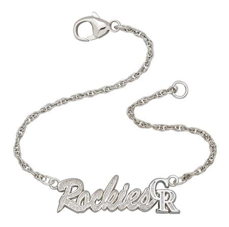Colorado Rockies MLB Sterling Silver Script Bracelet
