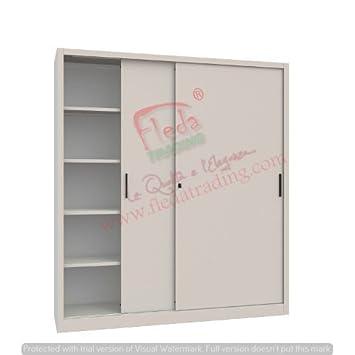 JDS-Armario de metal con puertas correderas Dimensiones: L120xP45xH200 (cm)