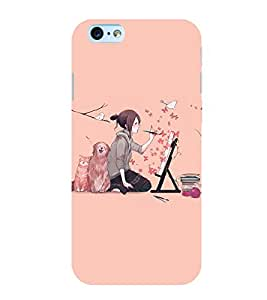 printtech Anime Cute Beautiful Girl Art Back Case Cover for Apple iPhone 6S