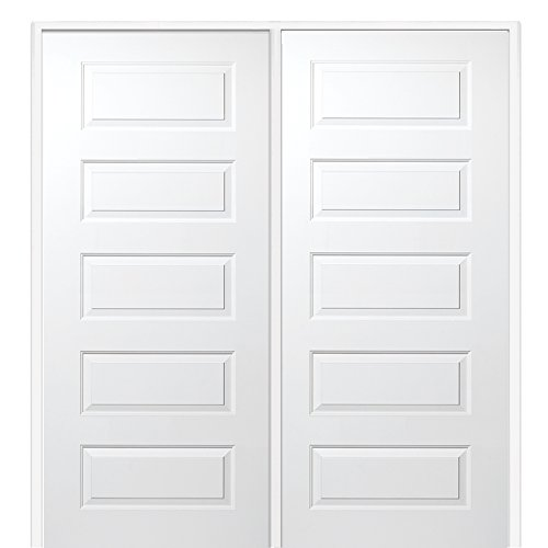 National Door Company Z009468r Solid Core Molded 5 Panel Right Hand Prehung Interior Double