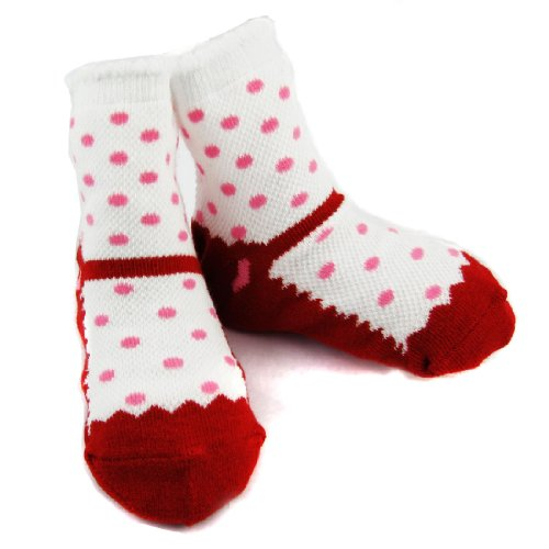 KF Baby Non-Skid Baby Girl Shoe Socks, 4 pairs, Infants to ...