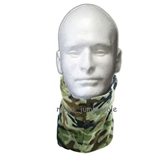 Unisex Camouflage Neck Warmer Fleece Snood Winter Warmer Toggle Adult One Size