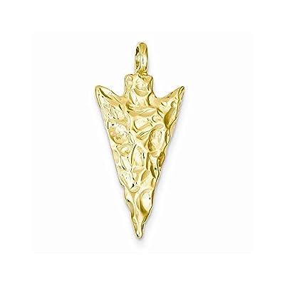 14k Gold Arrow Head Charm