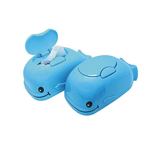 HOMEAN Tissue Holders - Smile Blue Whale Tissue Box Novelty Tissue Tray with Cover Pumping Tray