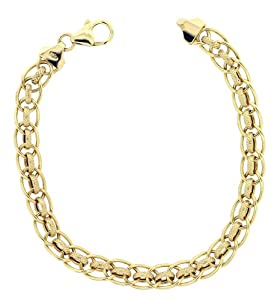 9ct Yellow Gold Rollerball Bracelet 19.2cm by H. Gaventa Ltd