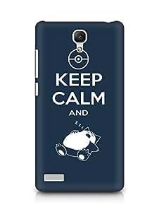 Amez designer printed 3d premium high quality back case cover for Xiaomi Redmi Note (Keep calm and)