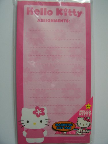 Hello Kitty Magnetic List Pad ~ Assignments (60 Lined Sheets)