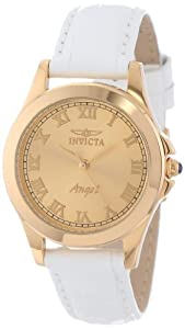 """Invicta Women's 14805 """"Angel"""" 18k Gold Ion-Plated Watch with Interchangeable Leather Bands"""