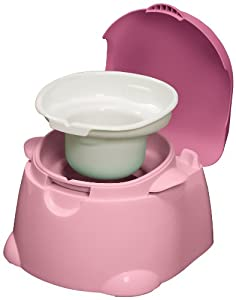 Safety 1st Comfy Cushy Potty Trainer and Step Stool, Pink