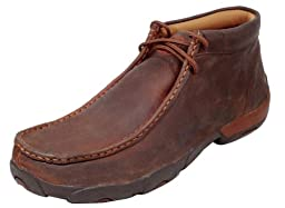 Twisted X Men\'s Driving Lace-Up Moccasin Shoes Round Toe Copper 11 D(M) US