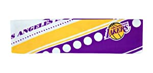 Los Angeles Lakers Stretch Patterned Headband (Please see item detail in description) by W2B