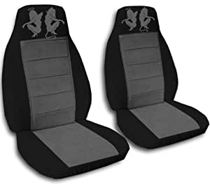 2 black and charcoal angel and devil seat covers for a 2013 2014 ford fusion side. Black Bedroom Furniture Sets. Home Design Ideas