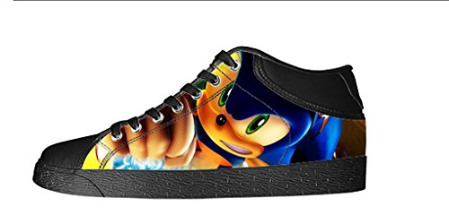 YKMS Customize Sonic The Hedgehog Men's Canvas Shoes Footwear Sneakers Flat Shoes (Sonic The Hedgehog Sneakers)