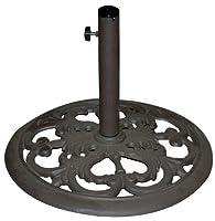 TropiShade 30-Pound Bronze Powder-Coated Cast Iron Umbrella Stand from Galtech